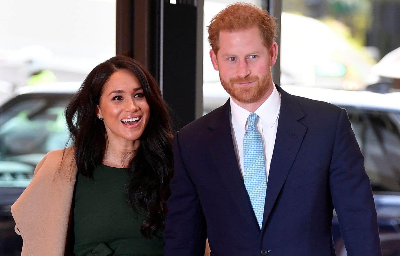 Le prince britannique Harry et son épouse Meghan Markle