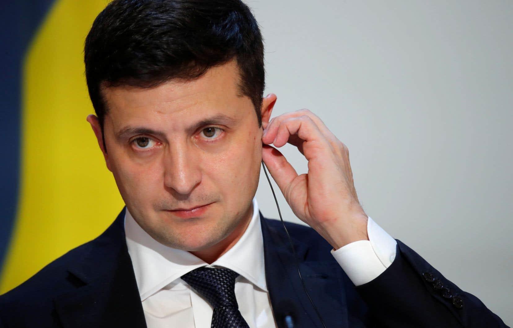 Le président de l'Ukraine, Volodymyr Zelensky