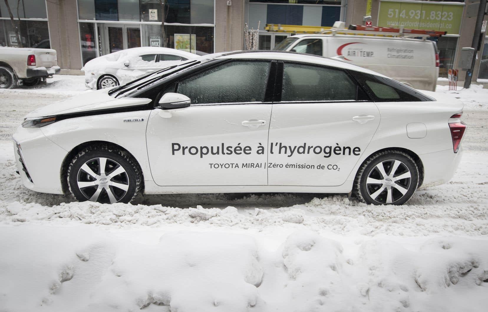 L'un des 50 véhicules Toyota Mirai acquis par le gouvernement du Québec.