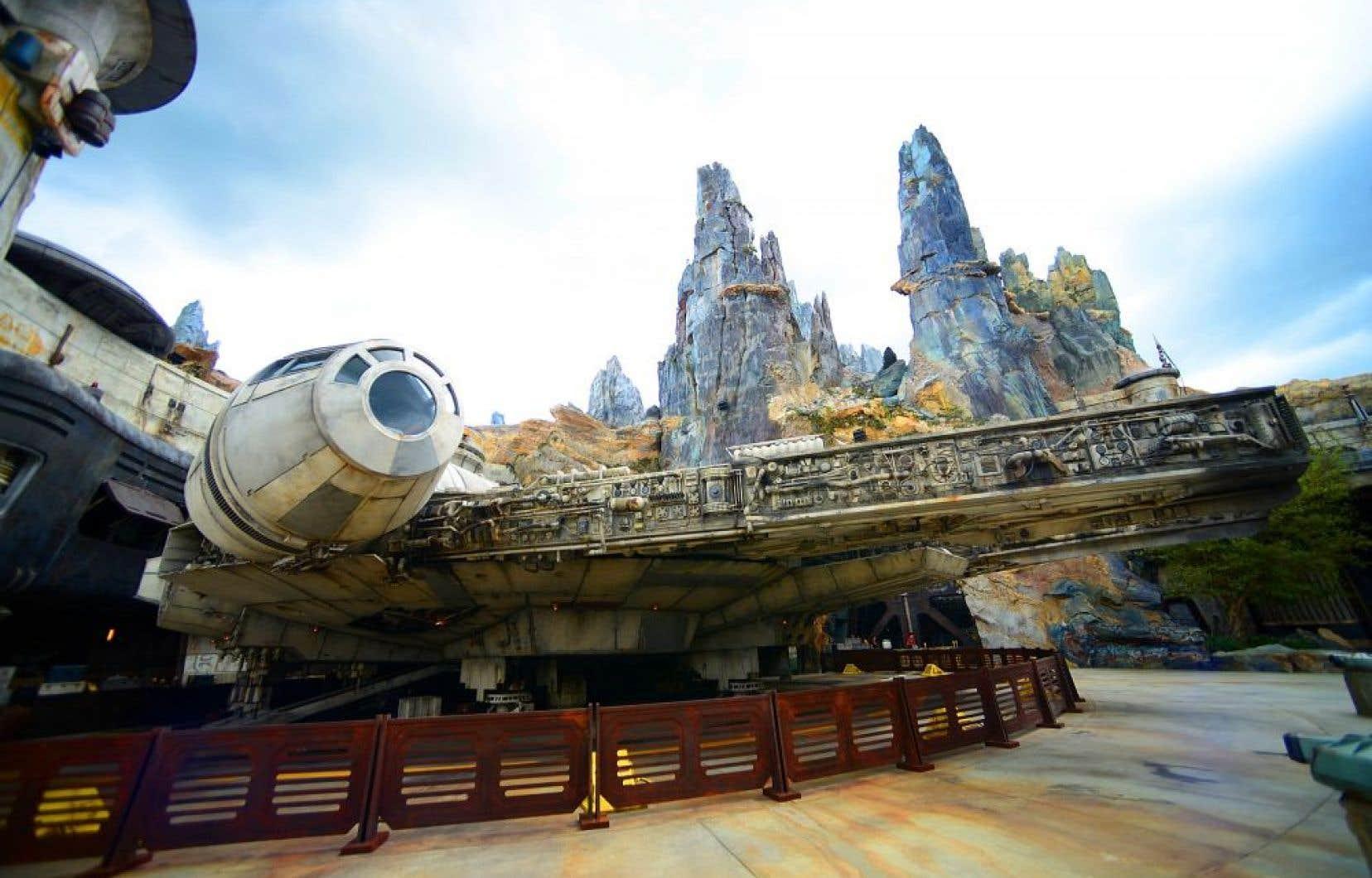 Une vue générale de Millennium Falcon à Galaxy's Edge, Walt Disney World Resort, à Orlando, en Floride.
