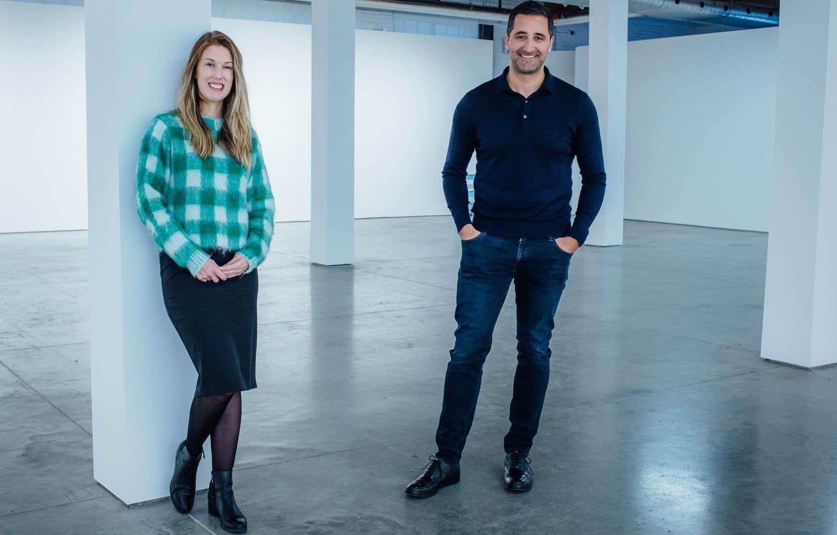 Megan Bradley et Antoine Ertaskiran, copropriétaires de la nouvelle galerie Bradley Ertaskiran, qui remplace l'ancienne Parisian Laundry.
