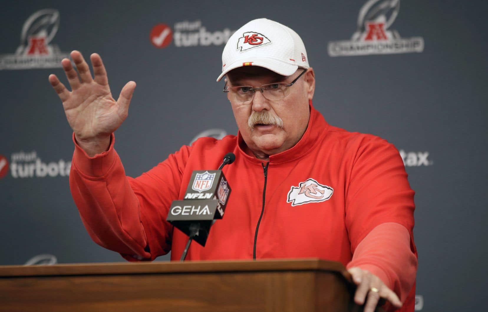 L'entraîneur des Chiefs de Kansas City, Andy Reid
