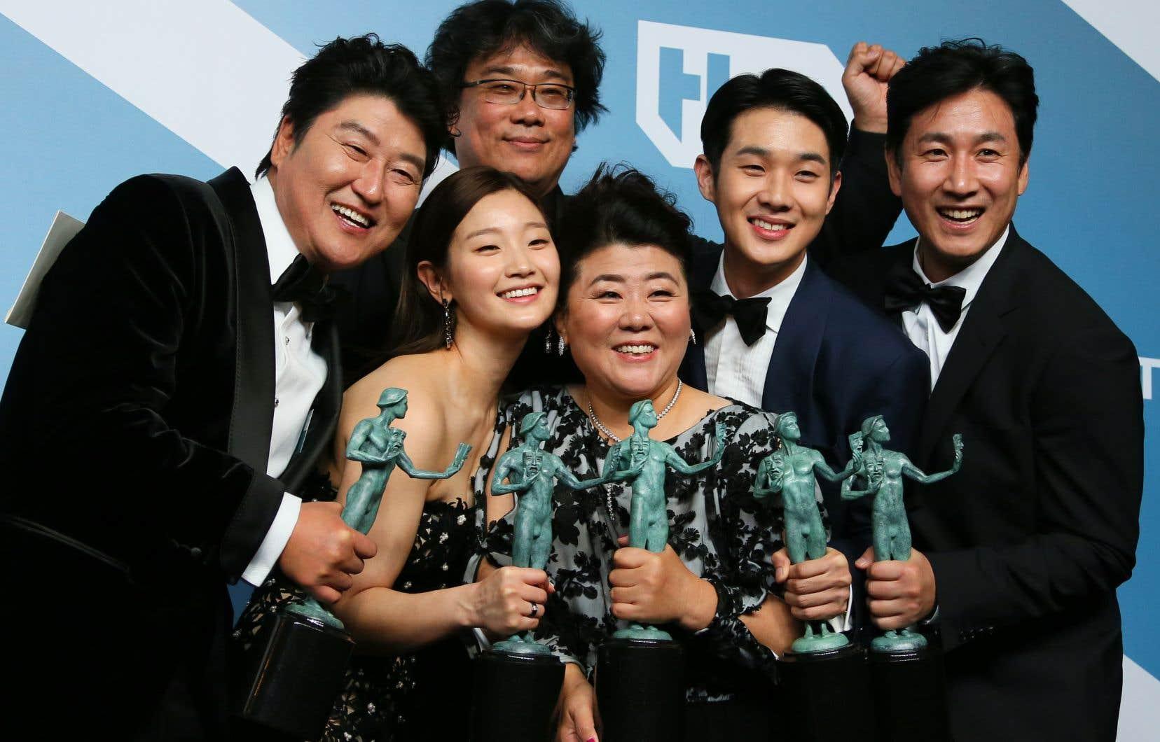 «Parasite»a remporté le prix «meilleur ensemble d'acteurs», récompense la plus prisée de cette cérémonie.