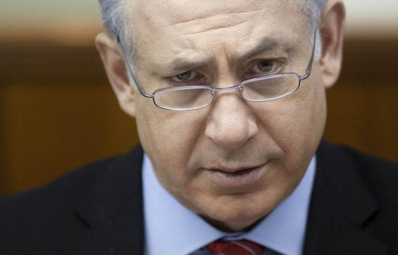 Benjamin Nétanyahou, ce week-end à la Knesset (Parlement).<br />