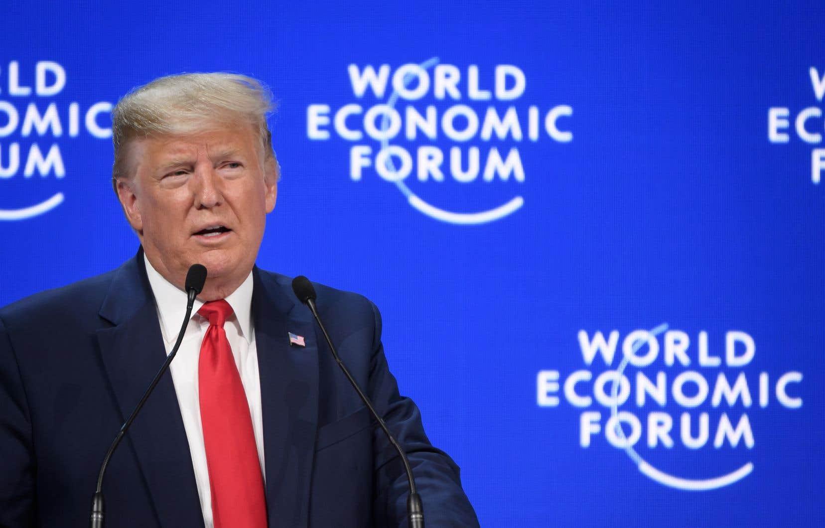 Le président américain donnait un discourstrès attendu devant l'élite politique et économique mondiale.