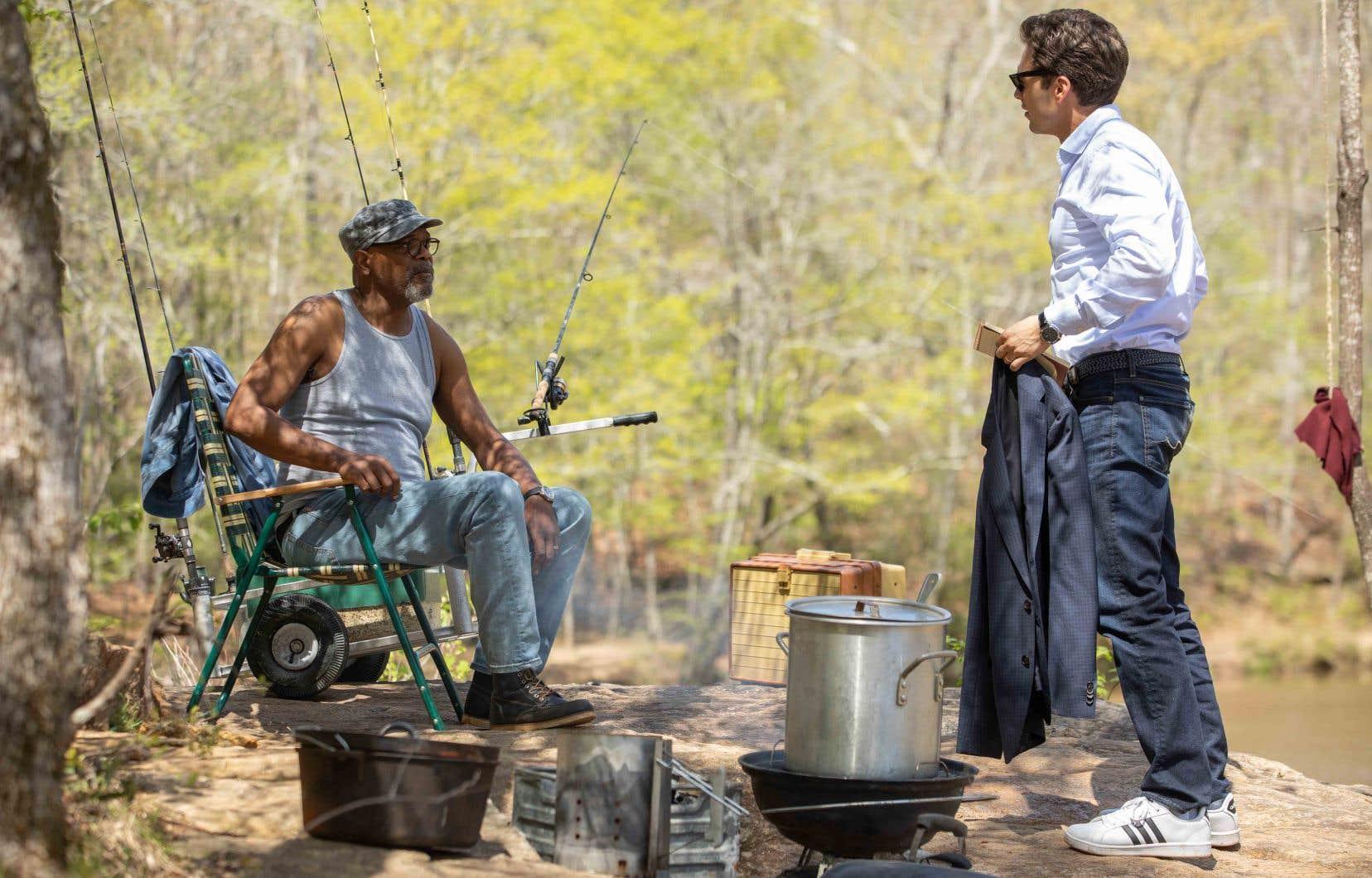 Samuel L. Jackson et Sebastian Stan dans une scène de «The Last Full Measure»