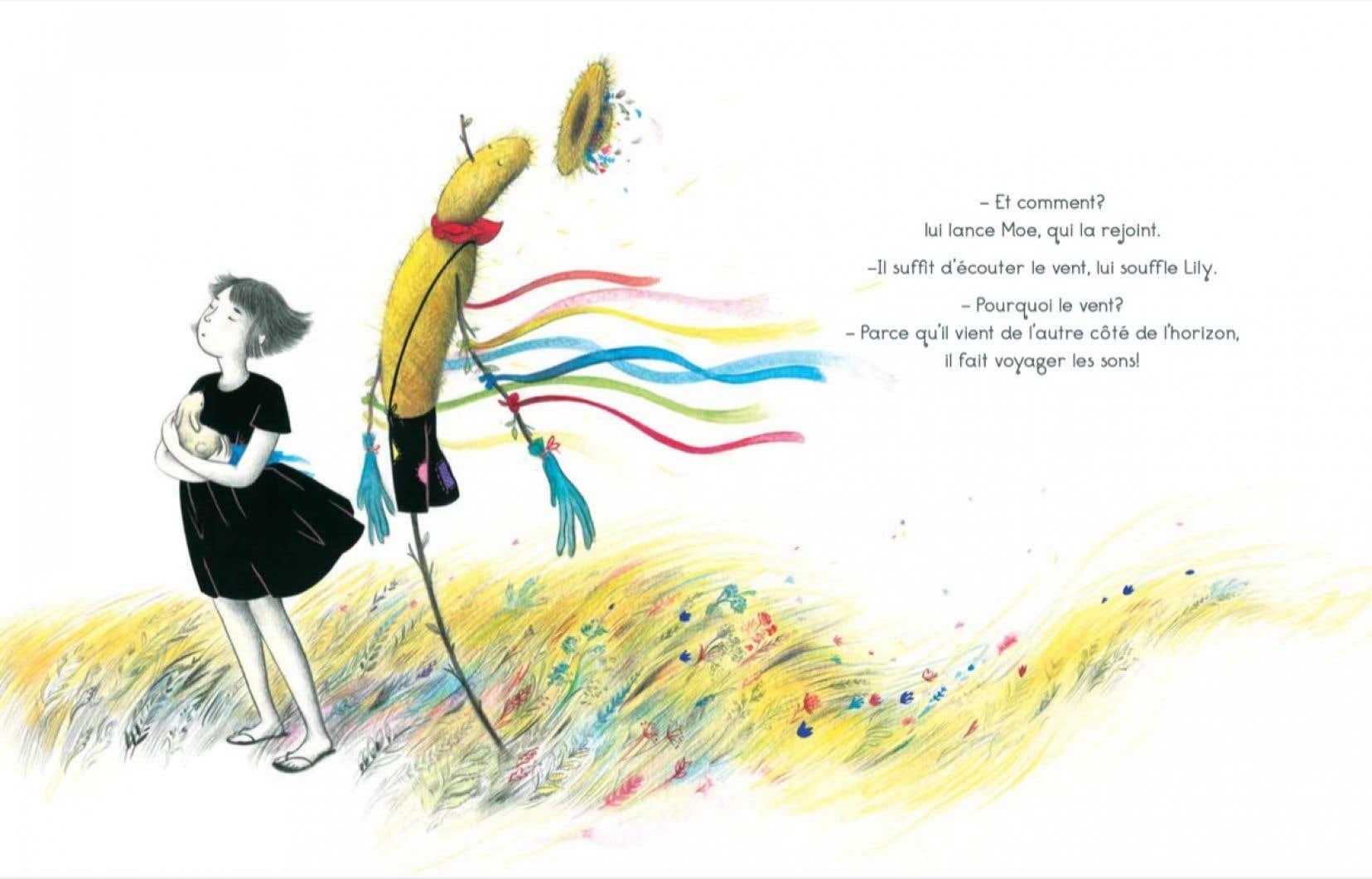 Illustration de Célina Guiné tirée du livre «Les yeux fermés»