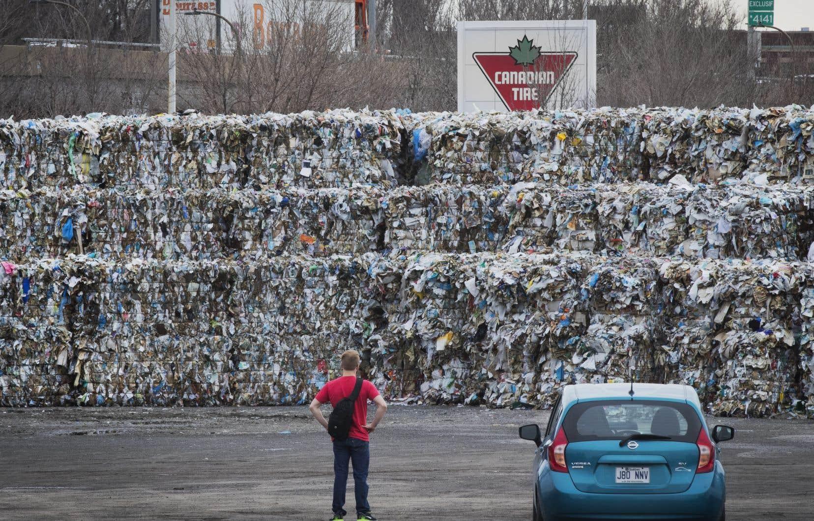 Les centres de tri de Montréal sont victimes de la crise mondiale des matières recyclables