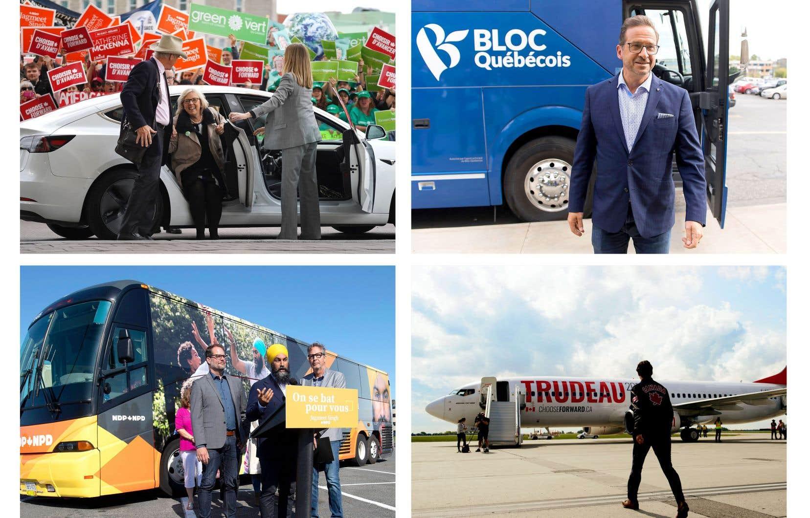 Les verts, le Bloc, le NPD et le PLC ont acheté des crédits carbone pour compenser la pollution de leurs véhicules de tournée électorale.