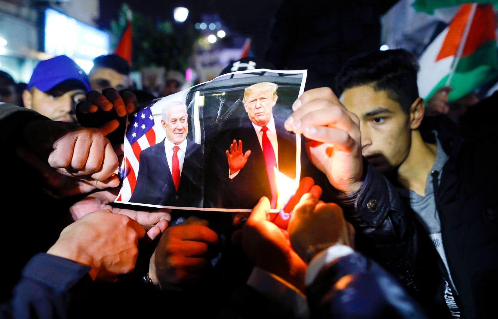 Le plan de paix américain fait la joie de Nétanyahou et provoque la colère des Palestiniens.