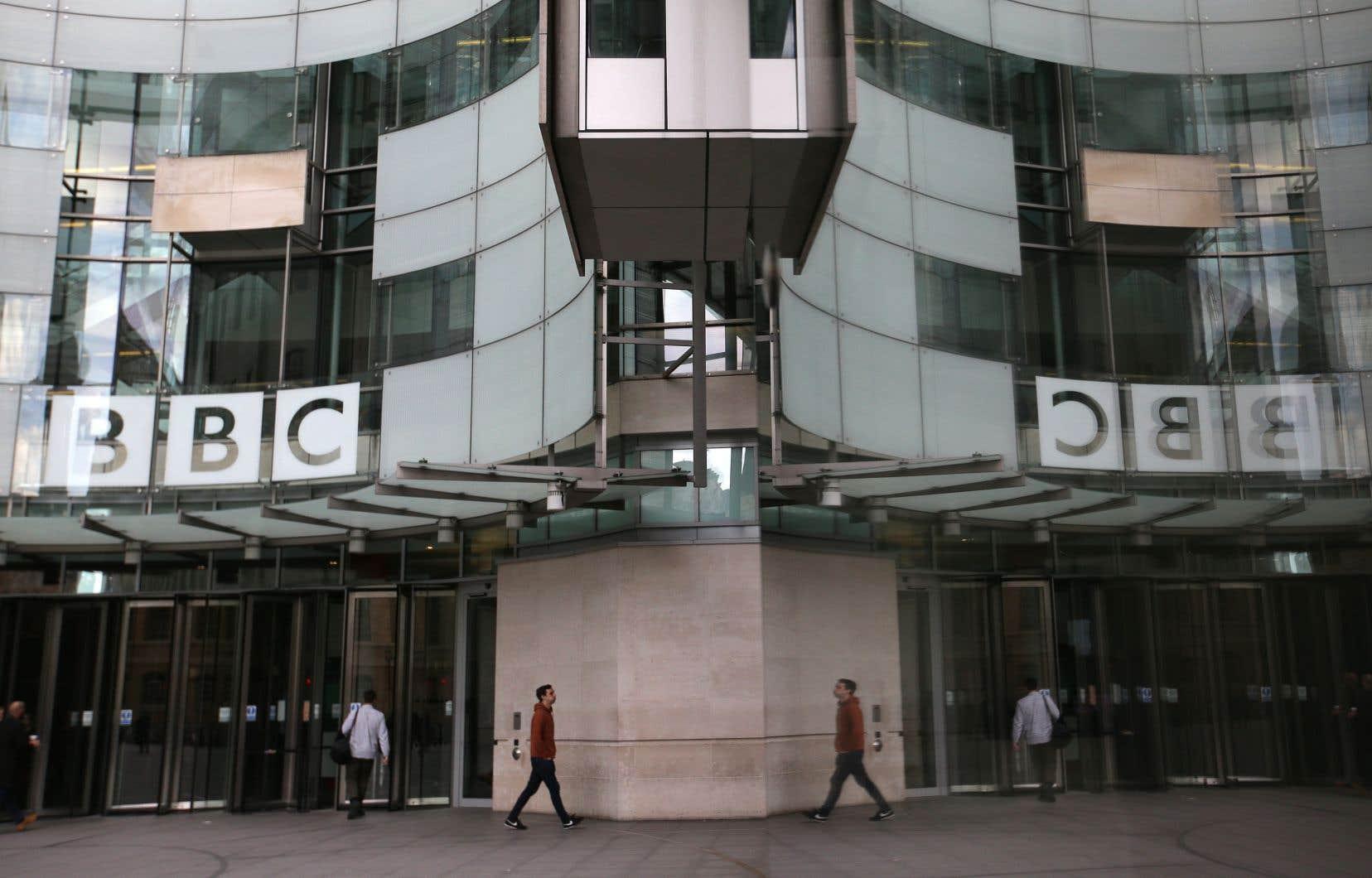 Vue générale du siège de la British Broadcasting Corporation (BBC) à Londres