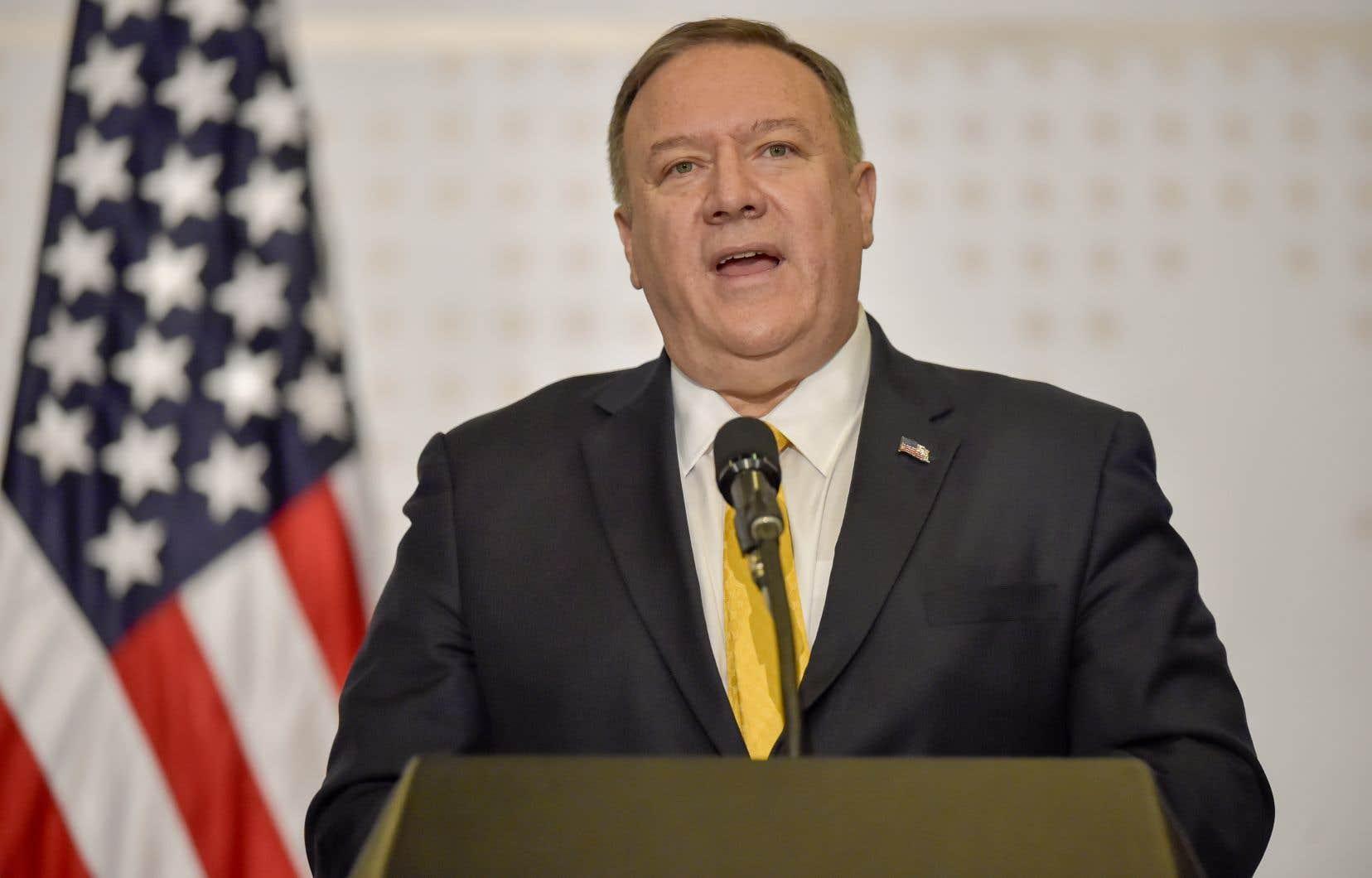 Le chef de la diplomatie américaine Mike Pompeoa perdu son sang-froid après avoir été pressé de questions lors d'un entretien par une journaliste.