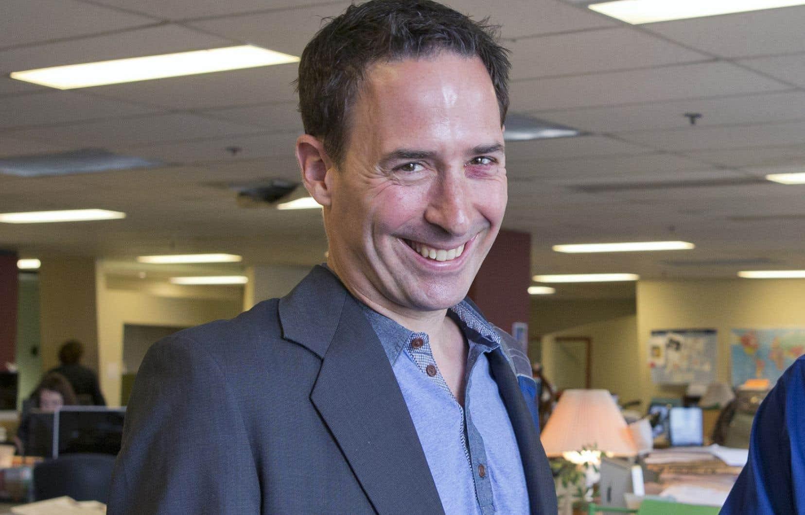 Frédéric Bastien, auteur, professeur d'histoire etcandidat à la direction du Parti québécois