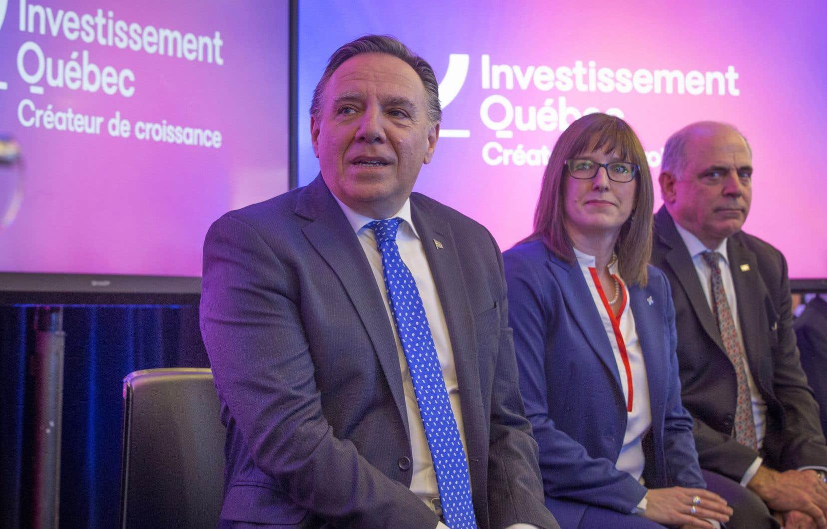 <p>Le premier ministre Legault a procédé lundi à Montréal au lancement du «nouvel» Investissement Québec.</p>
