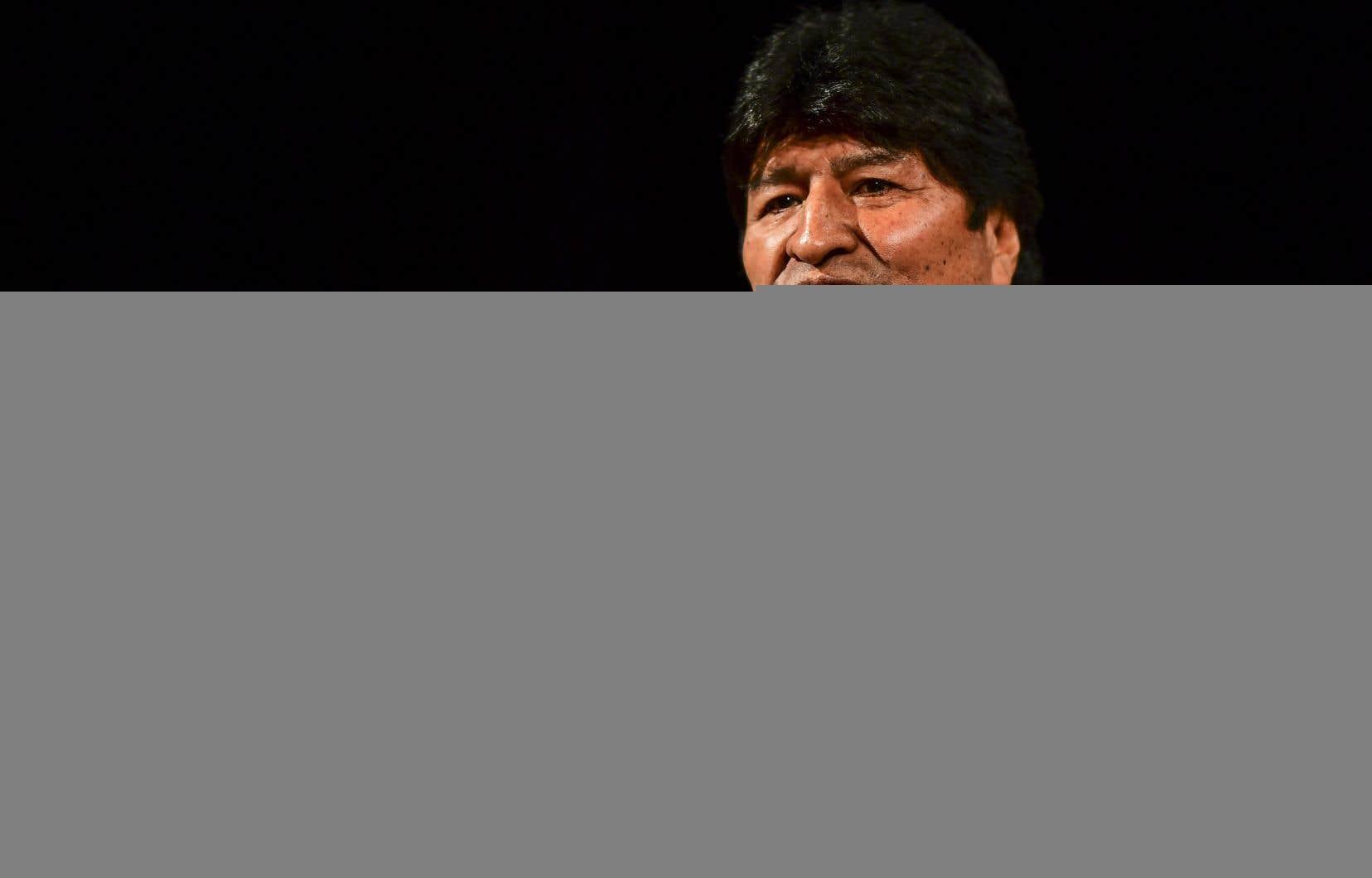 M. Morales ne peut pas briguer un nouveau mandat présidentiel lors du prochain scrutin.