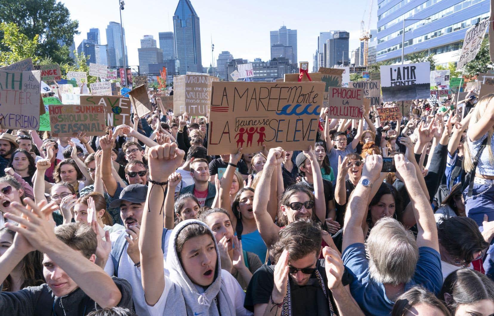 Des participants à la grève pour le climat du 27 septembre dernier à Montréal