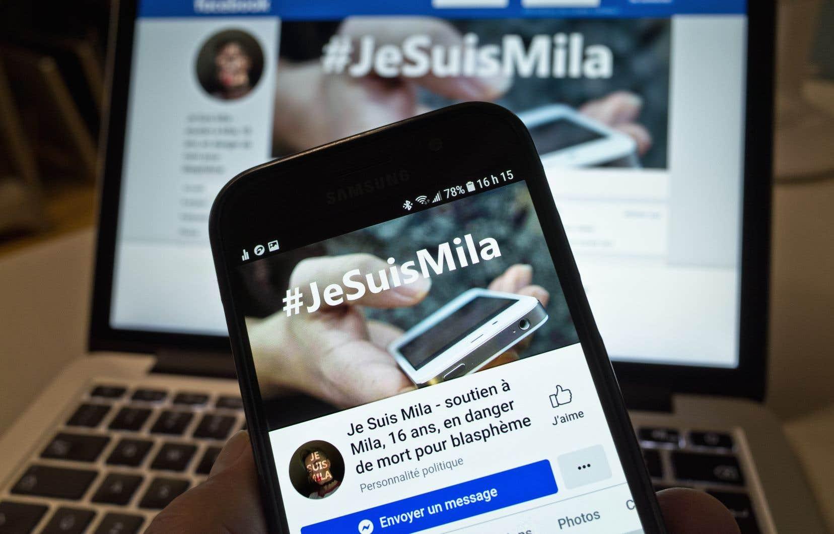 Un groupe Facebook a été créé en soutien à Mila, l'adolescente menacée de mort et harcelée après ses propos contre l'islam.