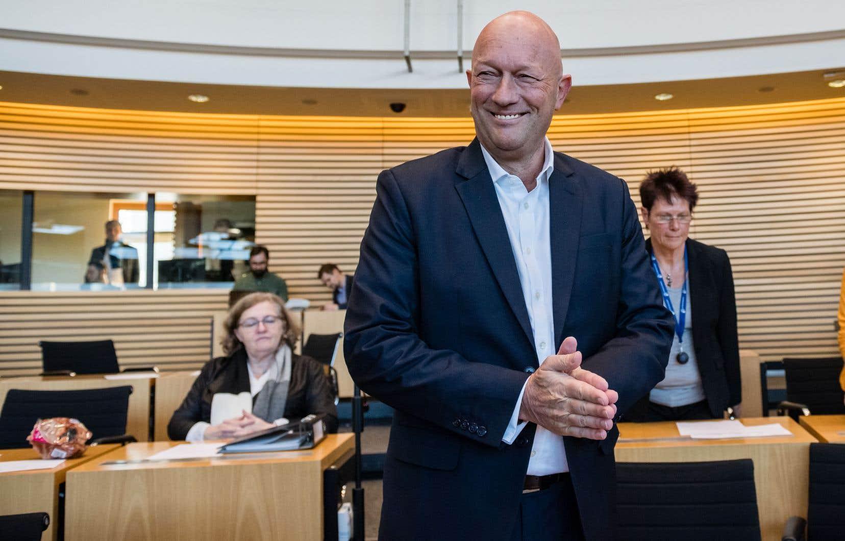 Le candidat d'un petit parti libéral, Thomas Kemmerich, a été désigné mercredi par une très courte majorité pour diriger la Thuringe.