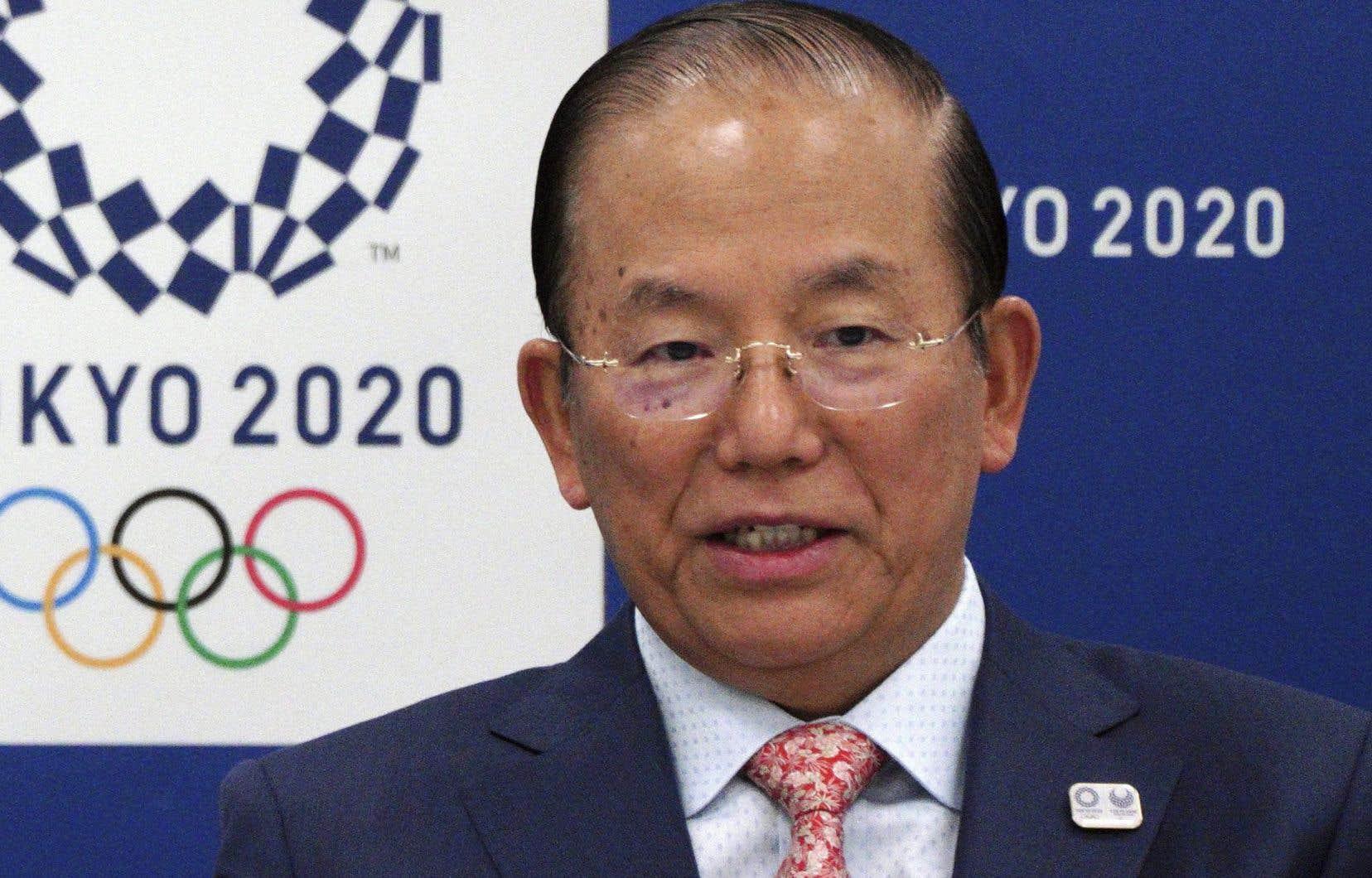Toshiro Muto, présidentdu comité d'organisation des Jeux olympiques 2020 de Tokyo