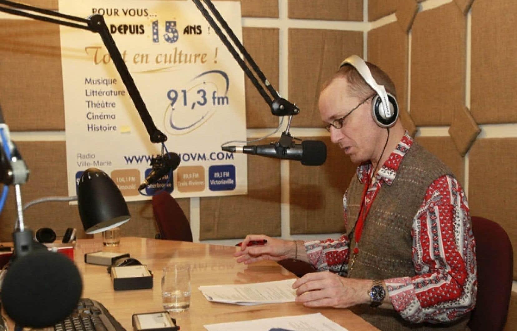 Jean-Philippe Trottier au micro de Radio-Ville-Marie