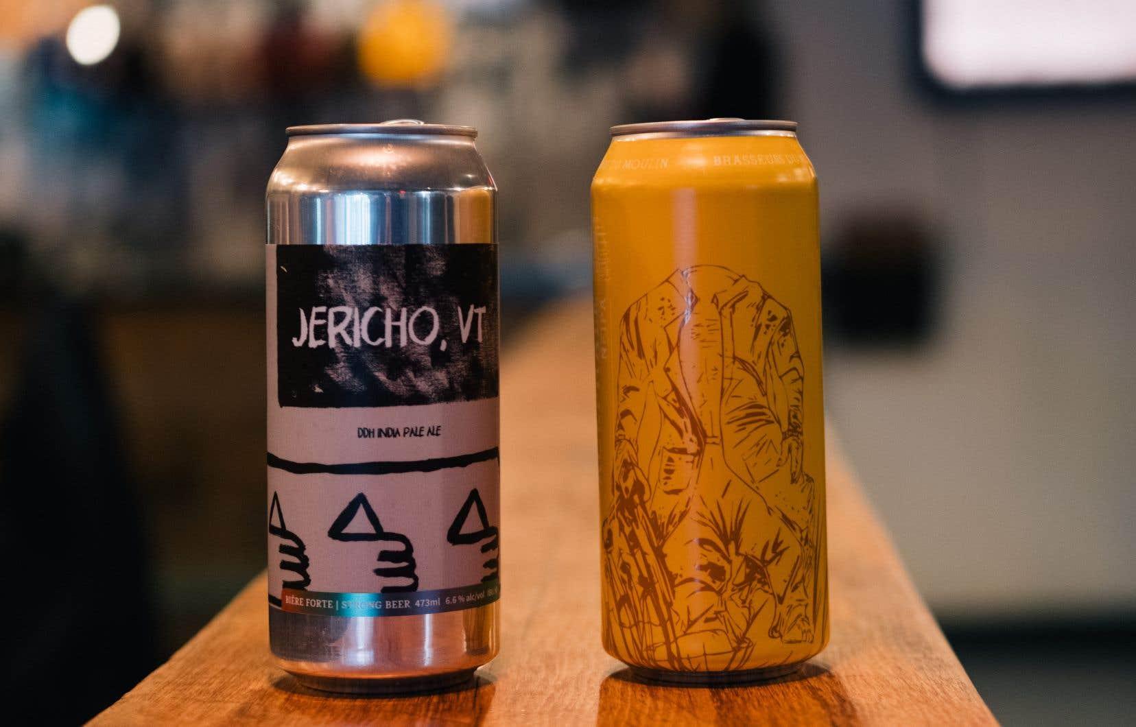 La Jericho, VT de la brasserie Sir John Brewing à Lachute et l'IPA de Brasseurs du Moulin à Beloeil