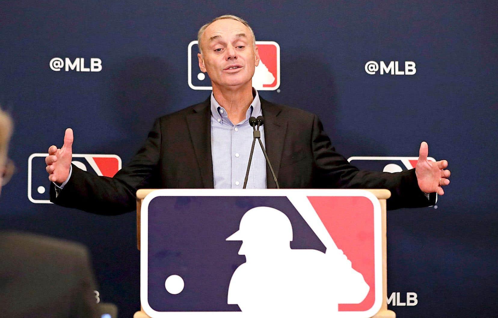 Le commissaire du Baseball majeur, Rob Manfred