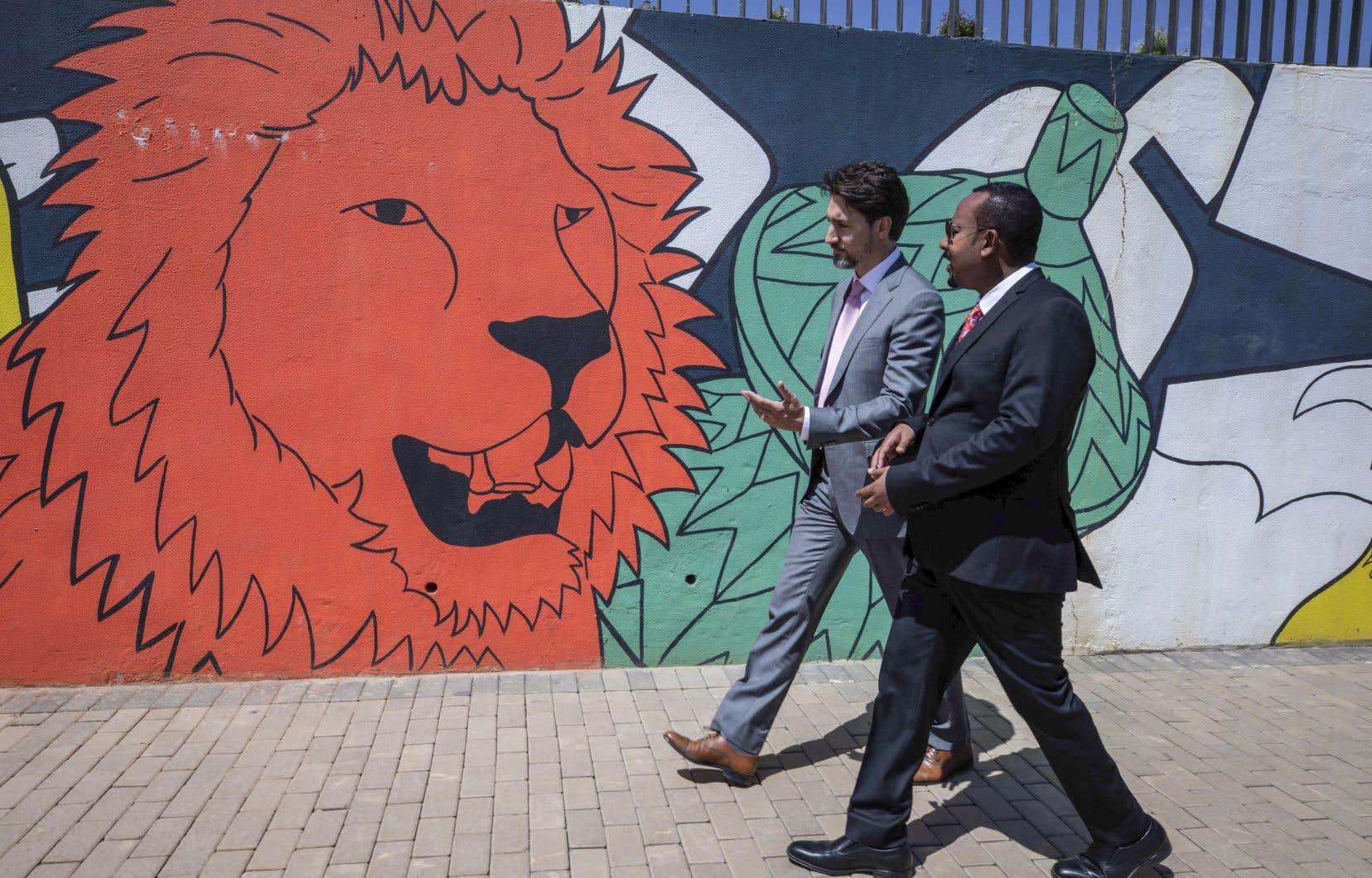 M.Trudeau a visité un nouveau parc public et un zoo situés sur une propriété de son homologue éthiopien, Abiy Ahmed.
