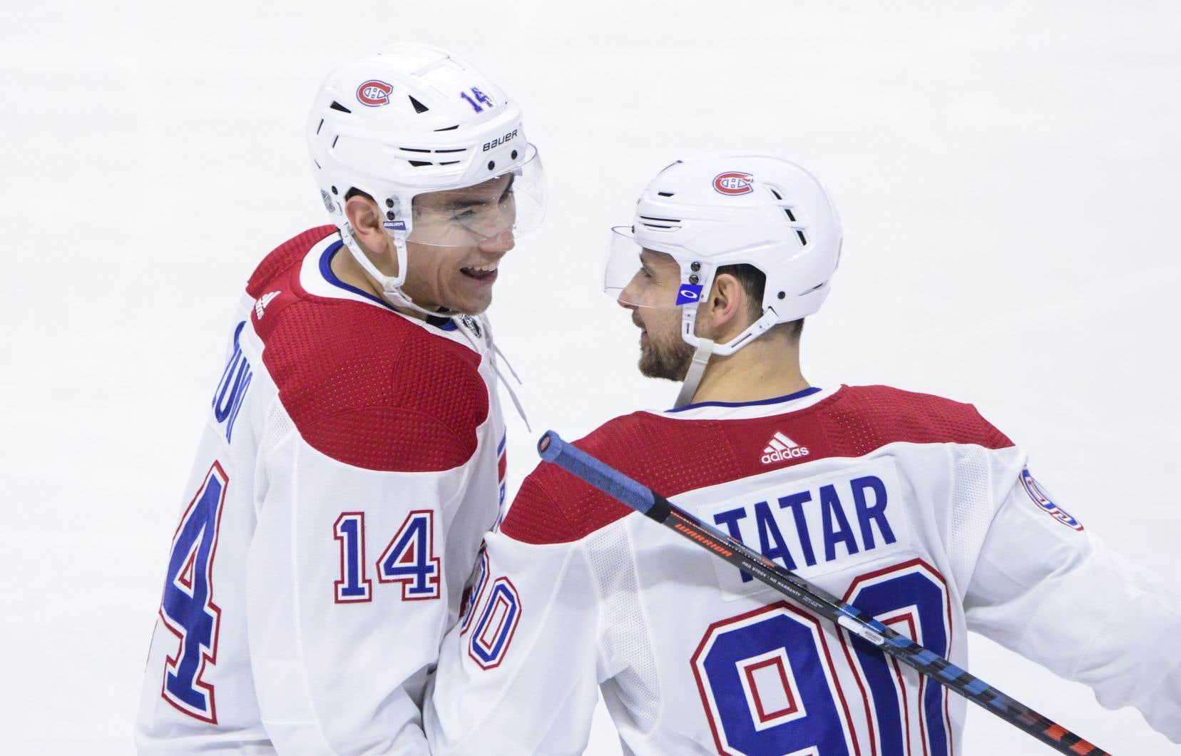 Lors du concours d'habiletés du Canadien de Montréal, Max Domi a remporté l'épreuve du patineur le plus rapide, tandis que Tomas Tatar a gagné celle du tir de précision.