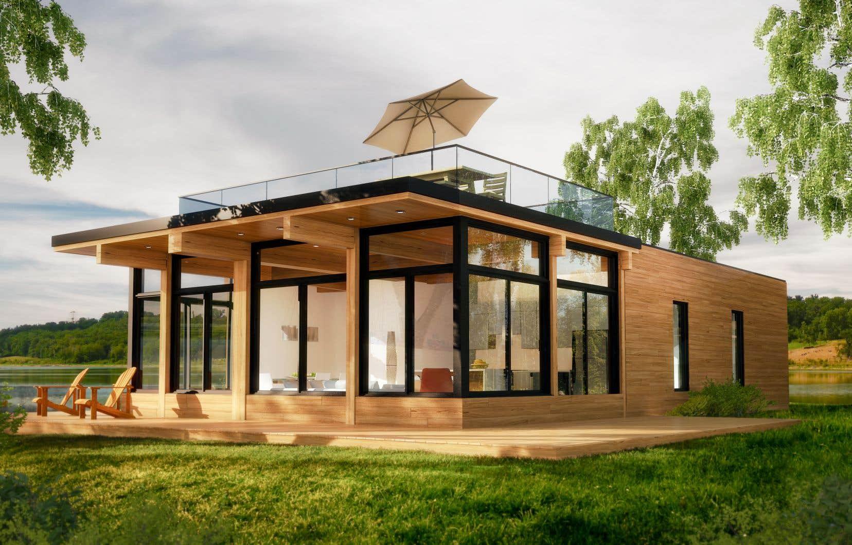 La Micro-Natur offre un espace habitablede basede 1008 pieds carrés, ce qui en fait leMicro-Loft<sup>MC</sup>le plus spacieux de sa catégorie.