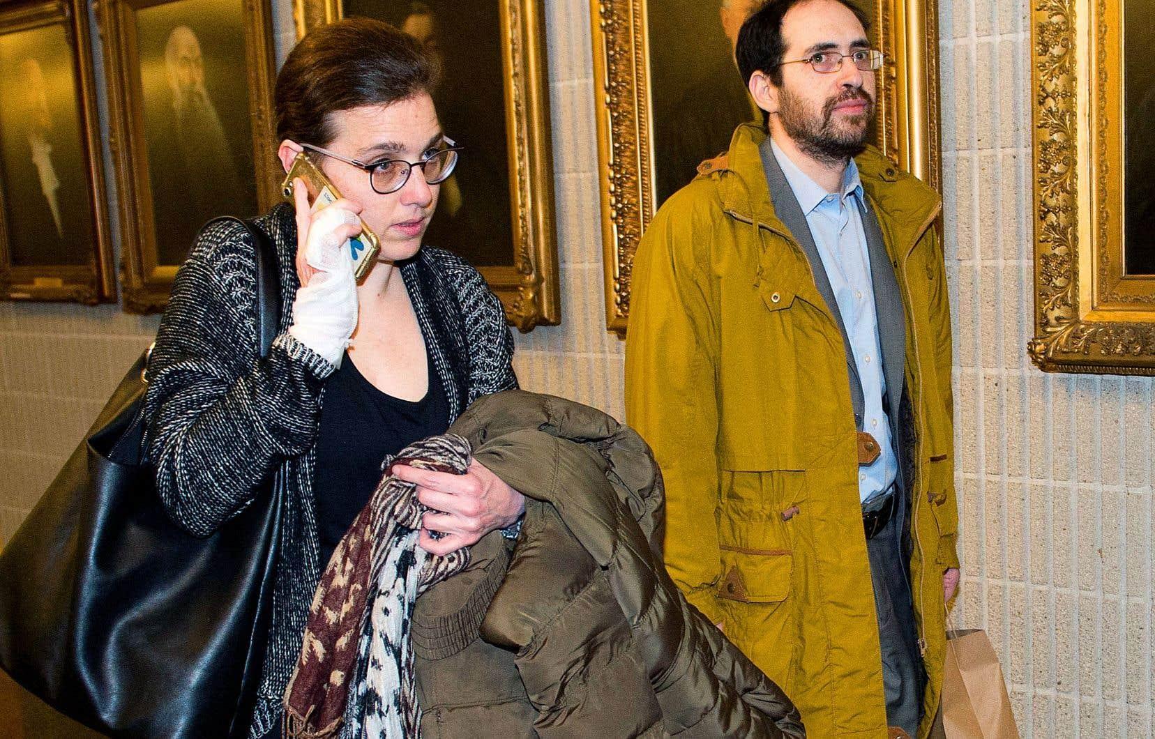 Clara Wasserstein et Yochonon Lowen au Palais de justice de Montréal
