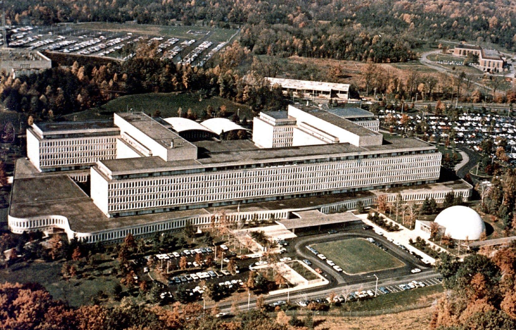 Le siège social de la CIA, à Langley, en Virginie, photographié en 1979