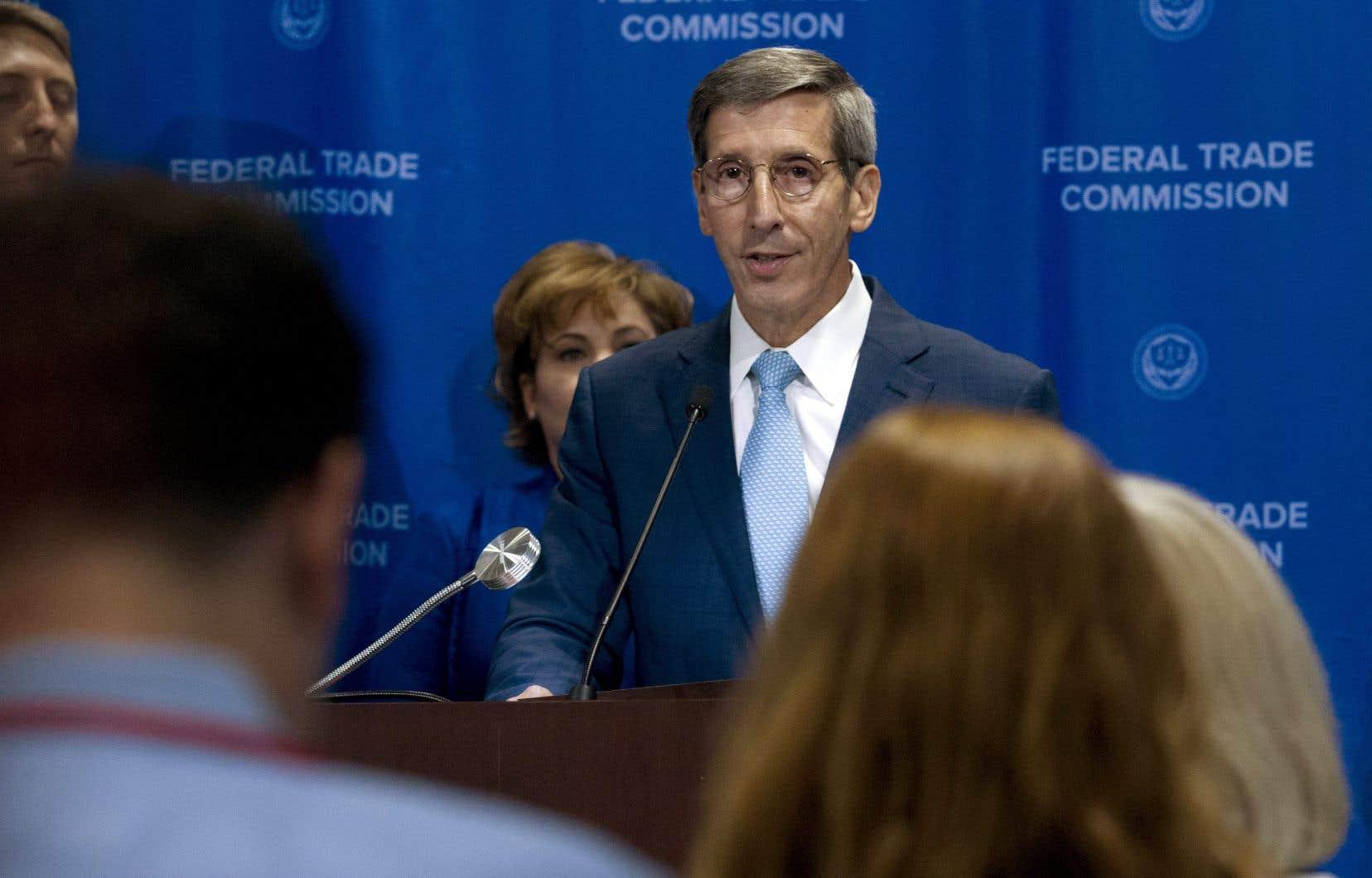 Le président de la Commission fédérale du commerce américaine (FTC en anglais), Joe Simons