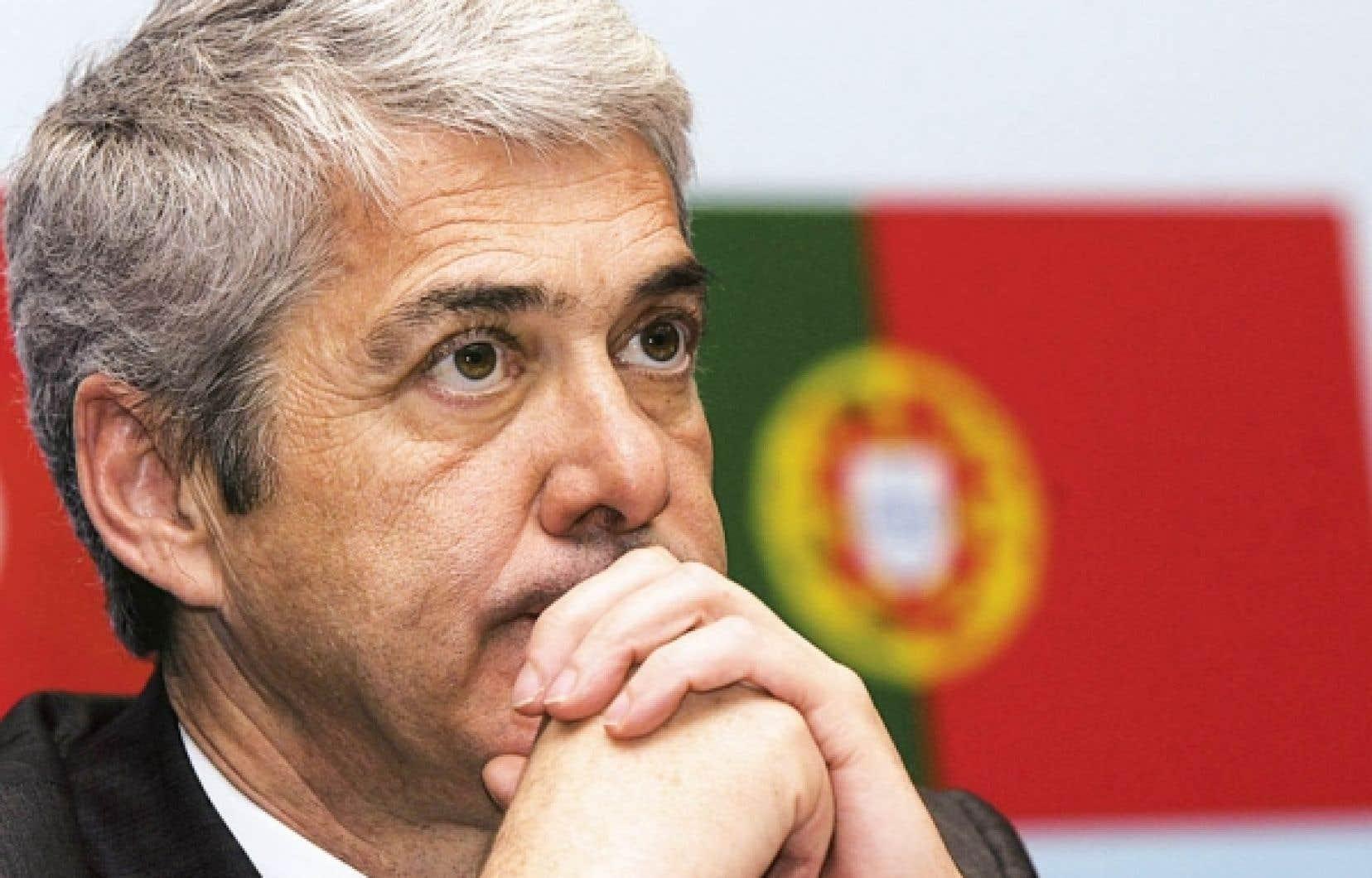 José Socrates, premier ministre du Portugal<br />