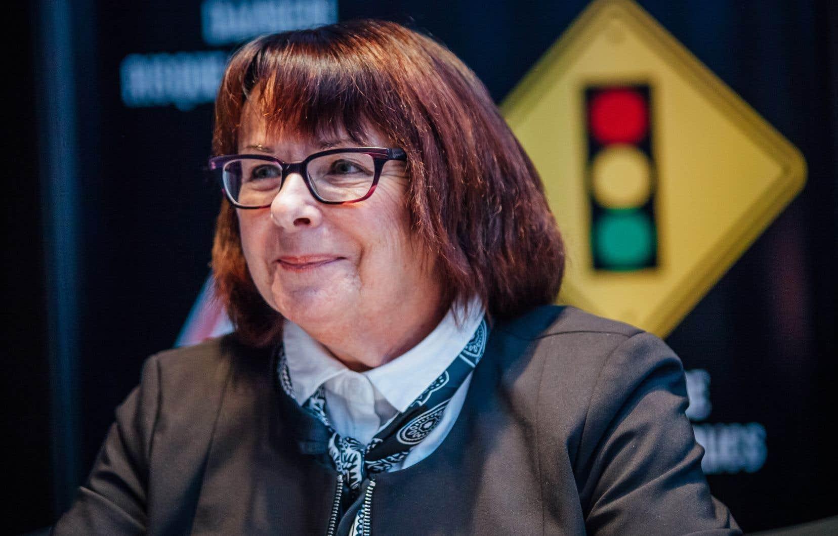 La présidente de la Centrale des syndicats du Québec (CSQ),Sonia Ethier