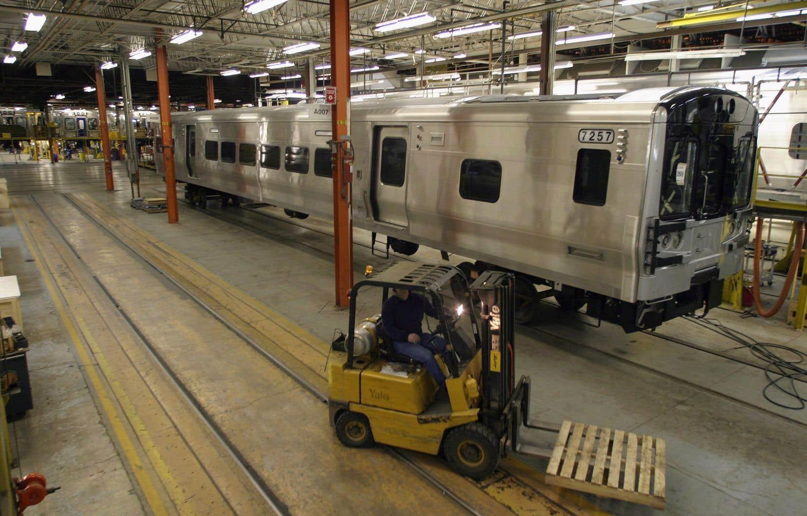 L'usine de Bombardier Transport, à La Pocatière. Au Québec, les activités de transport terrestre représentent un millier d'emplois.