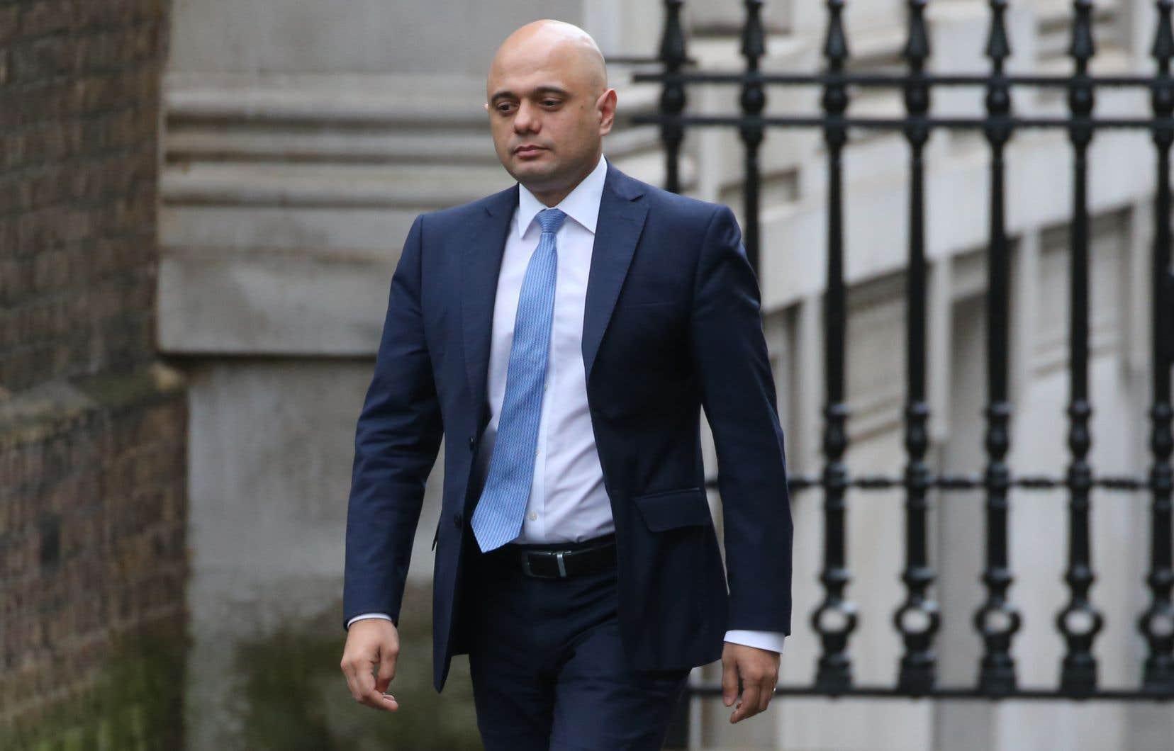 Le ministre britannique des Finances démissionnaire, Sajid Javid