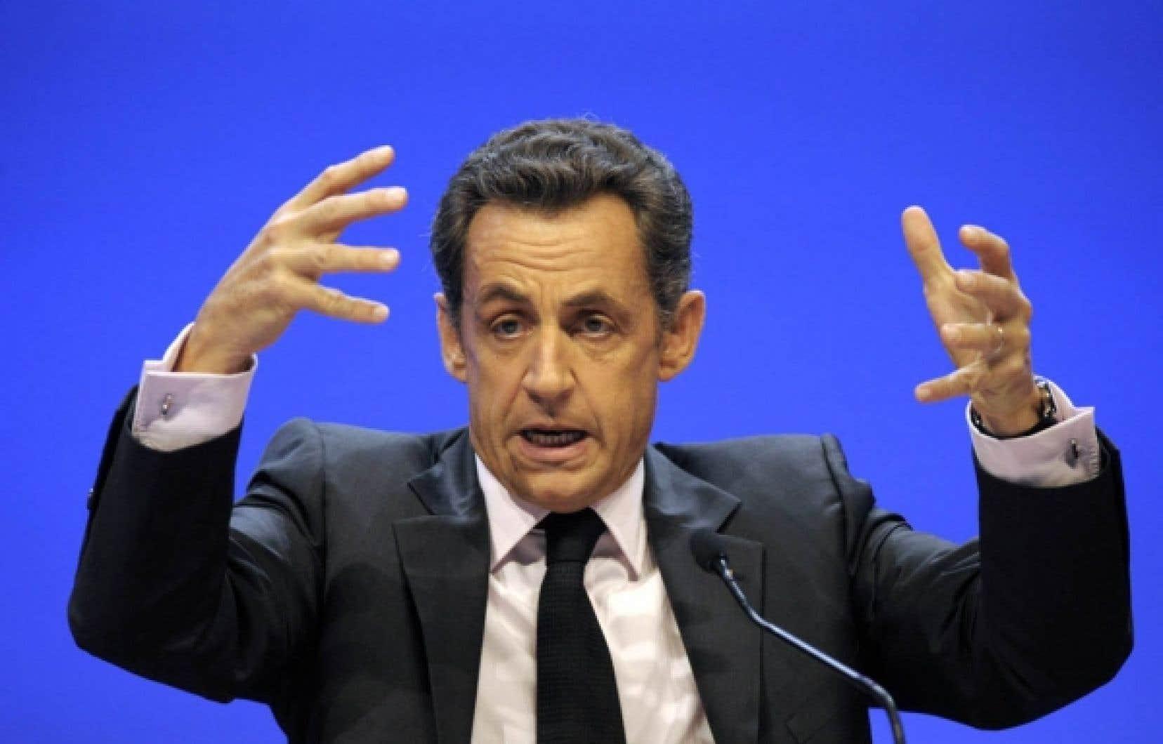 Nicolas Sarkozy hier au congrès des maires de France.<br />