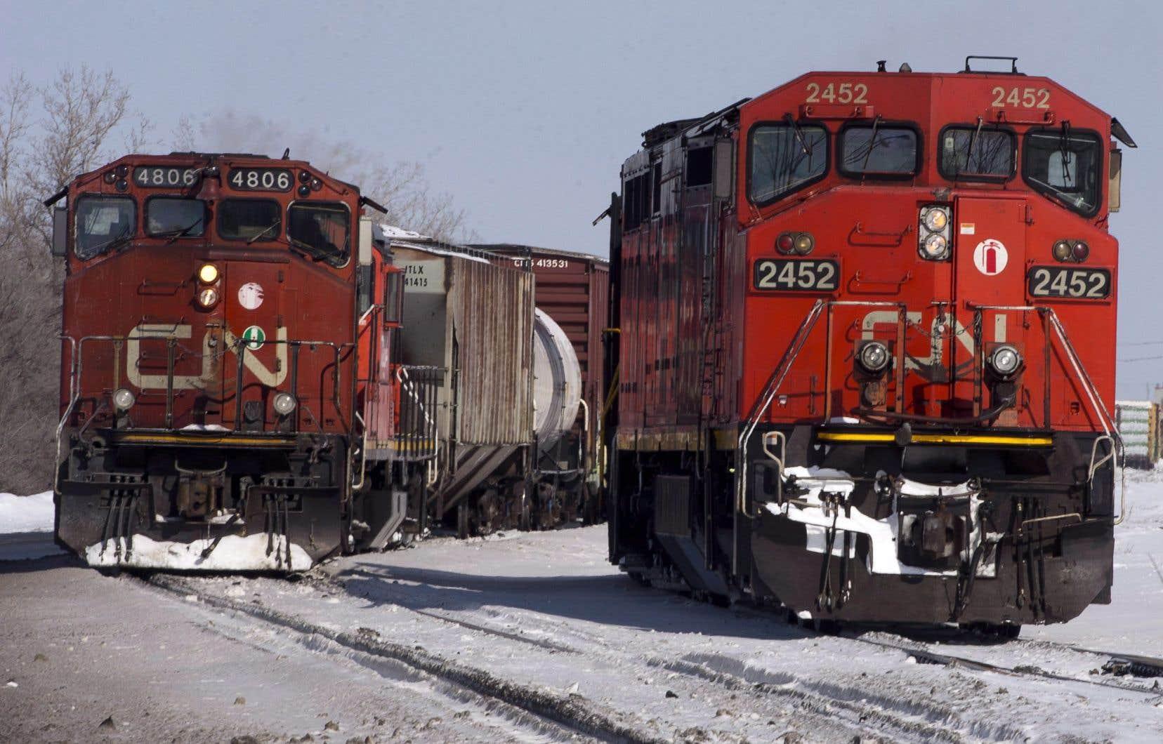 Le CN précise que cette mesure «comprendra l'arrêt sécuritaire des trains transcontinentaux sur son réseau canadien».