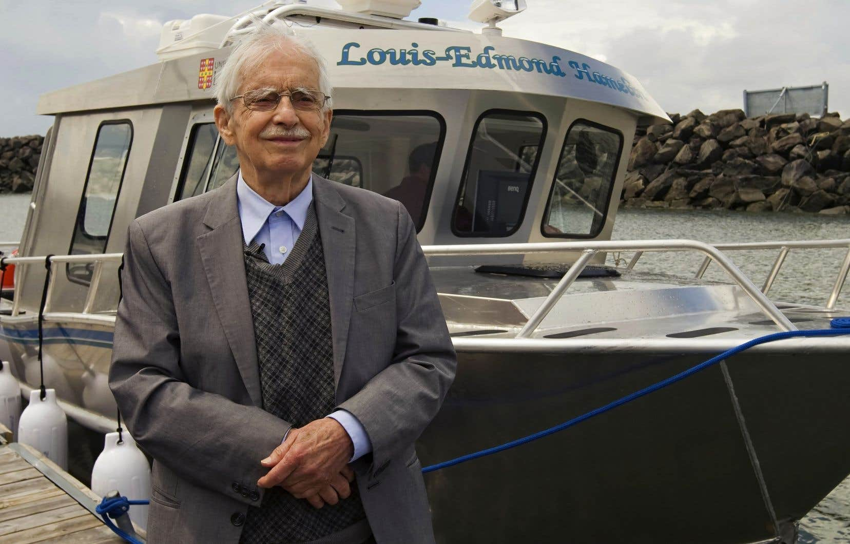 Le géographe Louis-Edmond Hamelin, photographié en 2011