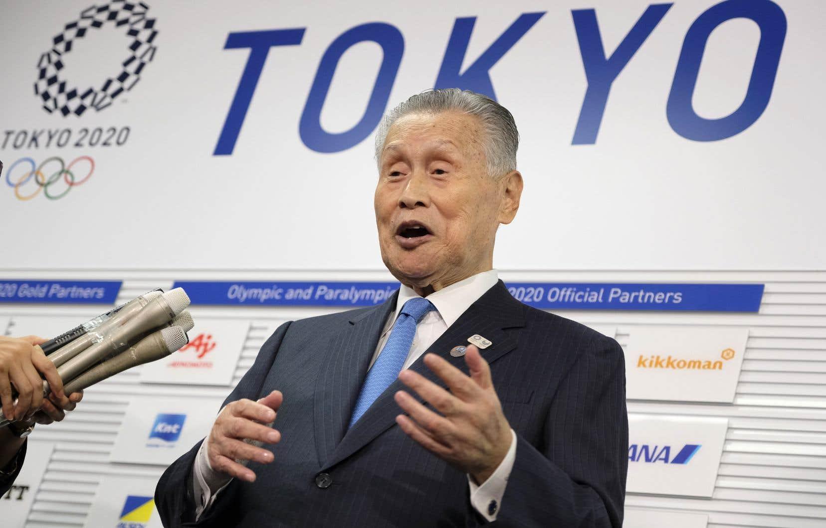Le président du comité d'organisation des Jeux olympiques de Tokyo, Yoshiro Mori