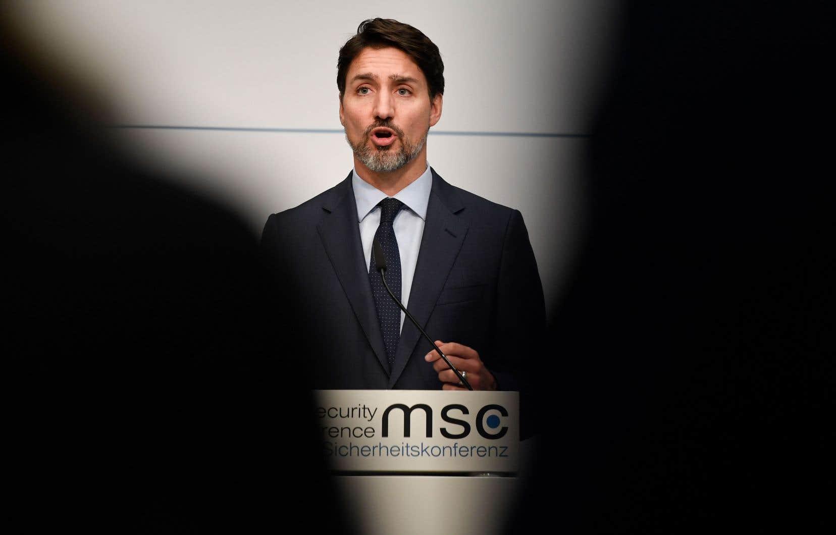 Justin Trudeau a rencontré vendredi une délégation du Congrès américain en marge d'une conférence internationale sur la sécurité et la défense à Munich, en Allemagne.