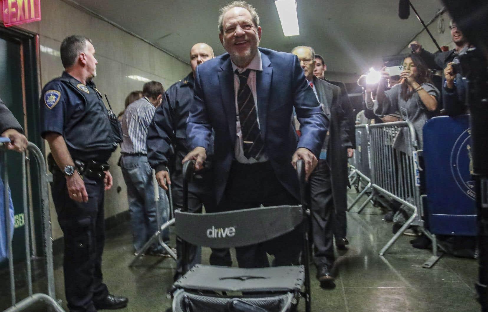 Harvey Weinstein, 67ans, est accusé d'avoir violé une femme dans une chambre d'hôtel de Manhattan, en 2013, et d'avoir posé de force des actes de sexe oral sur une autre victime.