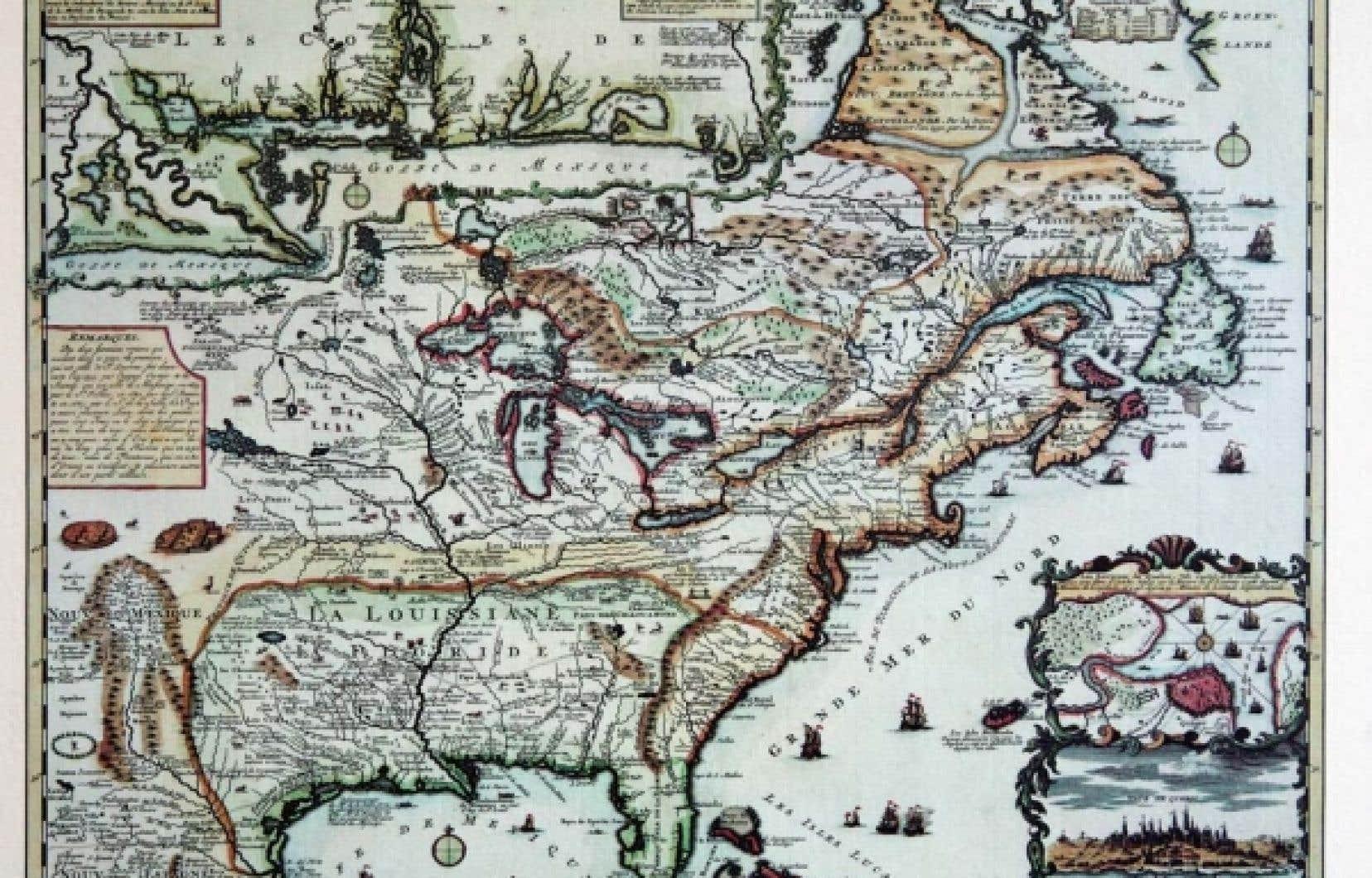 Carte de la Nouvelle-France