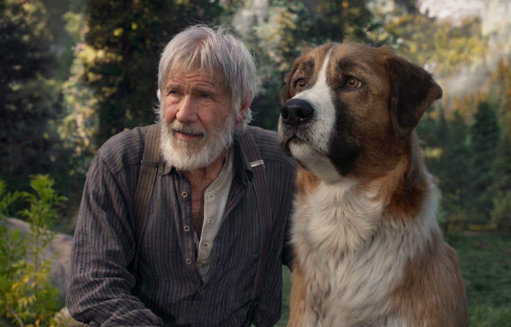Harrison Ford (le plus souvent «recto tono») agit dès le départ comme le narrateur des aventures de Buck, mais l'animal est si expressif, si intelligent qu'il se mettrait à causer que personne n'en serait étonné.