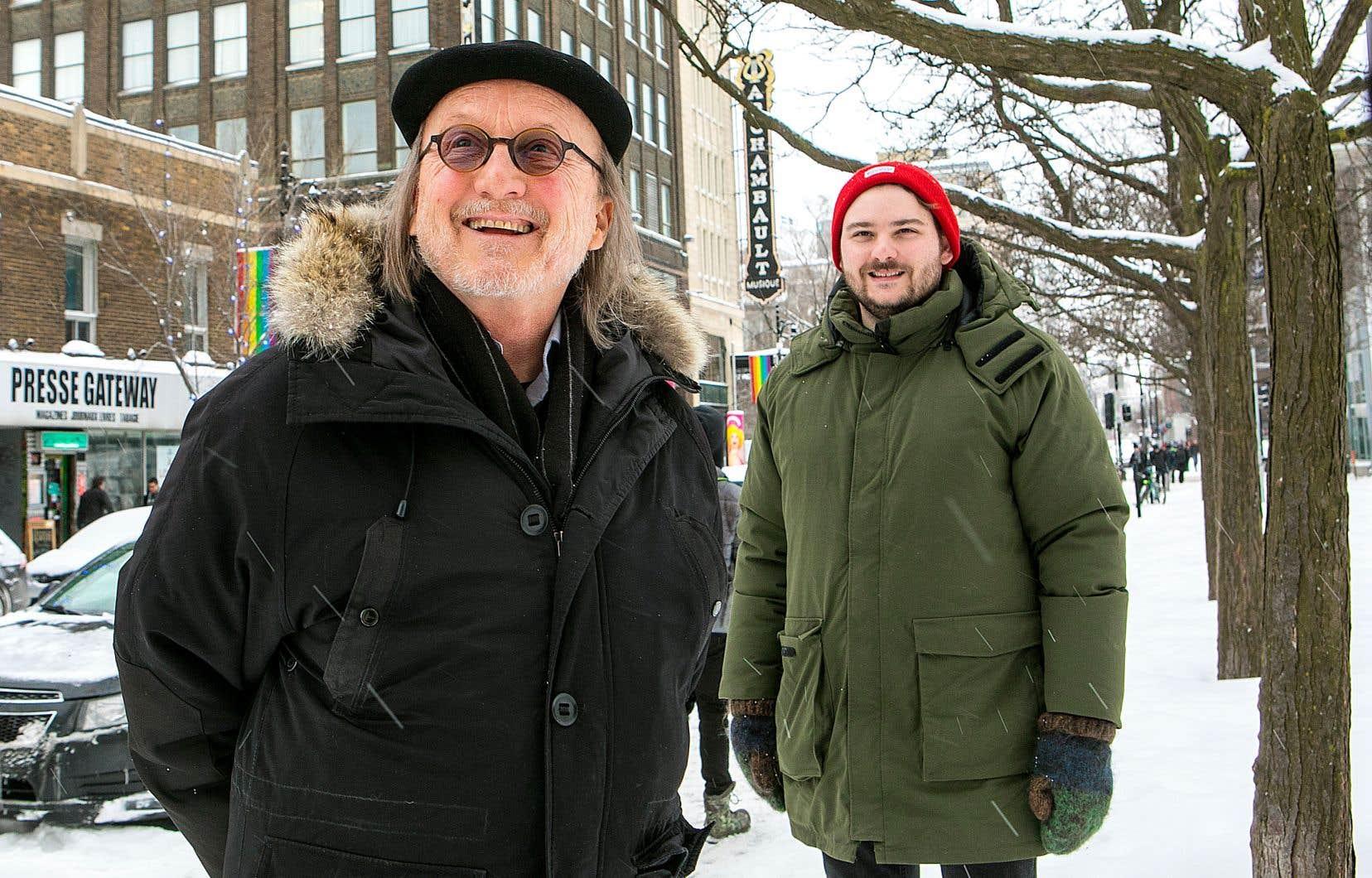 Jim Corcoran (à gauche) est le premier invité du balado réalisé par Julien Morissette.