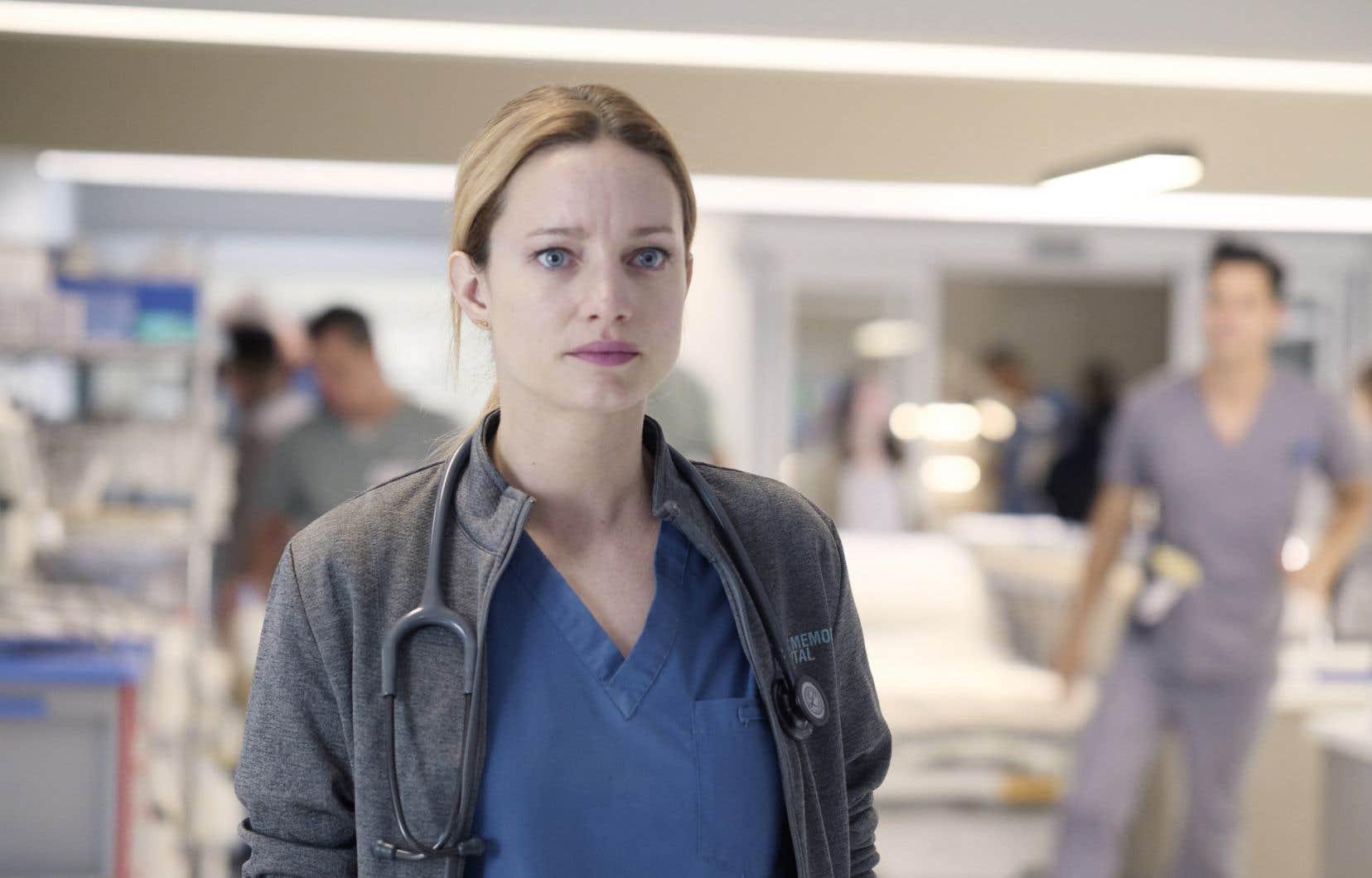 Laurence Lebœuf incarne une résidente de deuxième année dans «Transplanté».