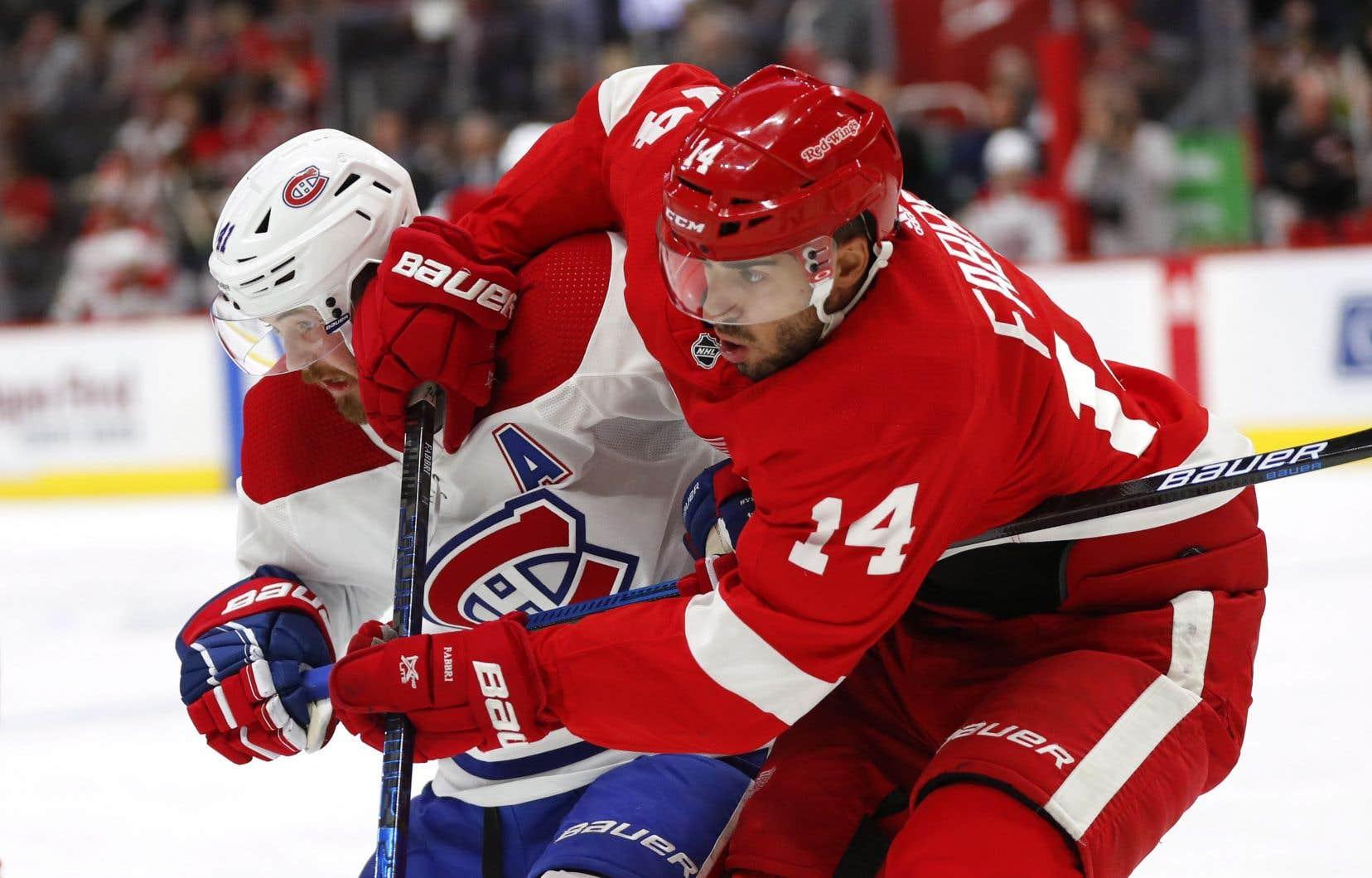 Les Red Wings ont gagné leurs quatre duels face au Canadien cette saison.