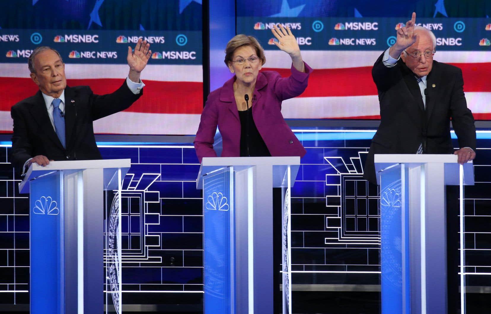D'une intensité rare, le ton est immédiatement monté lors du débat démocrate entre les candidats qui espèrent défier le républicain Donald Trump lors de la présidentielle de novembre.