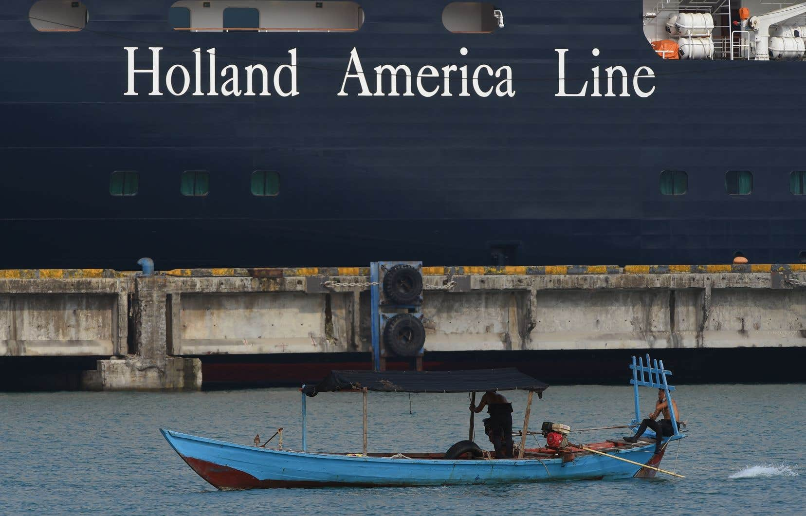 <p>L'opérateur du navire, Holland America, a fait part de sa «gratitude sincère» envers le Cambodge que le paquebot devrait quitter prochainement.</p>