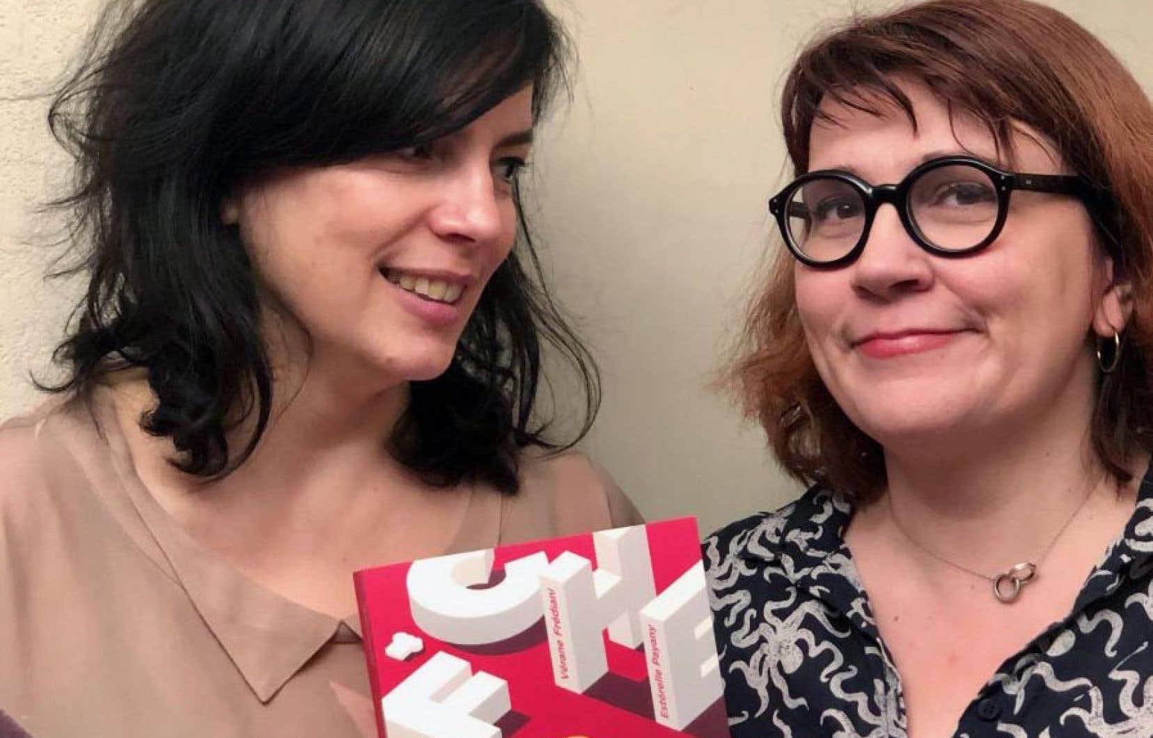 Vérane Frédiani et Estérelle Payany et leur ouvrage Cheffes. «500 femmes qui font la différence dans les cuisines de France»